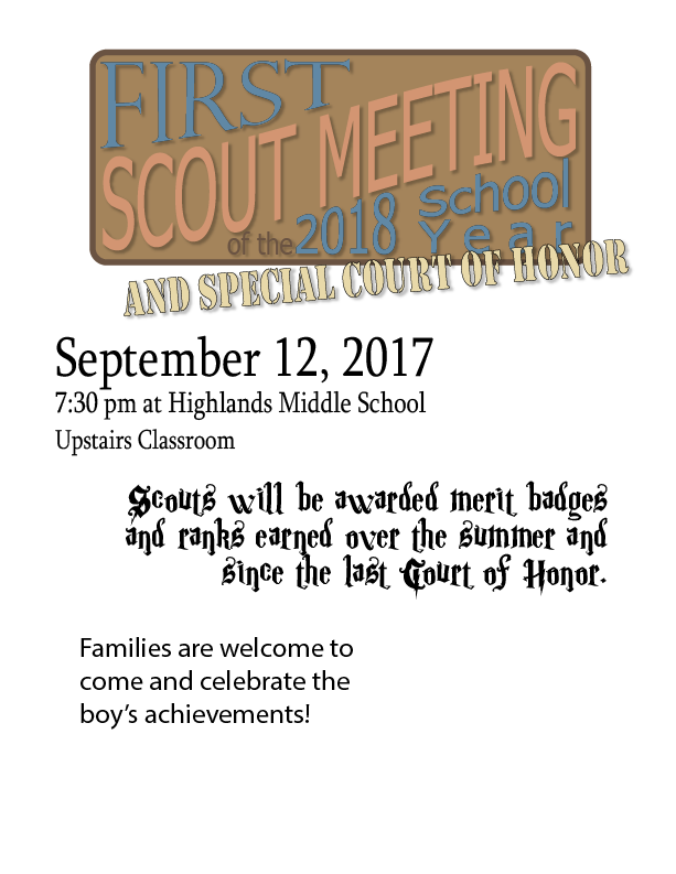 20170 09 12 First Troop Meeting Coh Troop 73 White Plains Ny