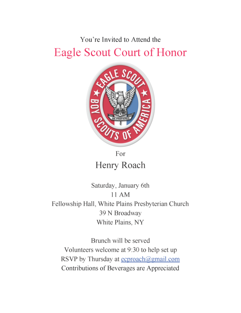 Court of Honor Flyer